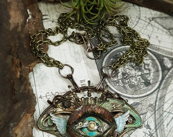 Oculus : Ajna - Mixed Media Art Jewelry