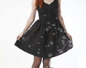 Dark Lace print, Gothic Lolita Dress