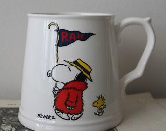 Vintage Snoopy RAH Mug Vintage Peanuts Coffee Mug Vintage 1960's Snoopy Coffee Mug