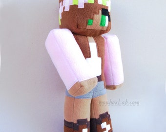 Little Kelly Minecraft inspired skin doll Action figure minecraft toy - MADE TO ORDER
