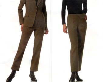 Vogue American Designer V2825 Sewing Pattern by DKNY for Misses' Jacket and Pants - Uncut - Size 12, 14, 16