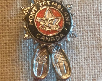 Sterling Silver Mont Tremblant Canada Brooch / Pin