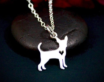 Chihuahua Necklace - Chihuahua Jewelry - Sterling Silver Necklace - Pet Memorial Necklace - Pet Remembrance