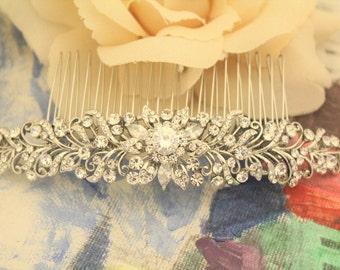 Bridal Headpiece,Wedding hair comb,Bridal hair accessories,Rhinestone hair jewelry,Crystal hair piece,Wedding comb,Bridal hair comb,Wedding