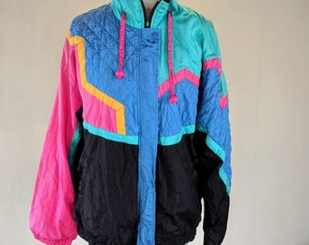 New Wave Lavon Colorful Windbreaker Jacket Top