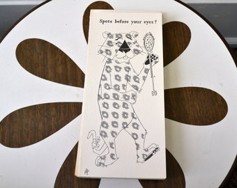 1950s NOS Leopard Get Well Card with Envelope