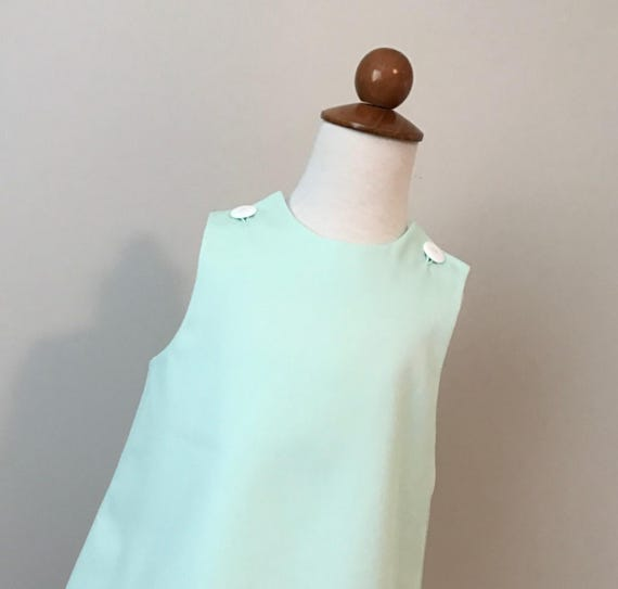 Girls Monogrammed Mint Green Dress, Perfect Dress for Easter,  Limited Sizes
