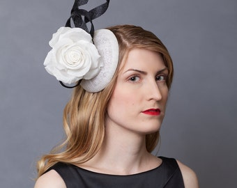 Black and White Bridal Hat