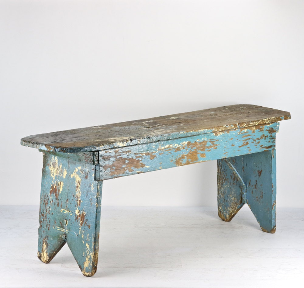 262 Best Old Stools Benches Images On Pinterest: Farmhouse Bench Turquoise Farmhouse Bench Old Bench Rustic