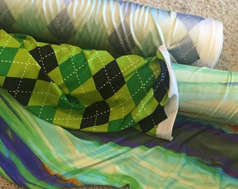 Polyester Lycra Jersey Knit Fabric  (1 yard)