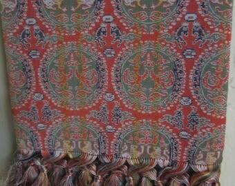 Vintage SIlk Brocade Tatsumura Textile Tigers Phoenixes