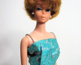 Barbie Doll Bubble Cut Doll, Titian Redhead, Butter Lips, 1964-65 Model #850 ... Vintage Classic Barbie, Mattel Inc., EUC