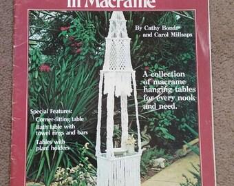 Make a Table in Macrame,  Macrame, Vintage 1978 Hard to Find Book, #7257, OFG