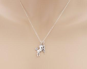 Unicorn Necklace, Unicorn Horn Necklace, Unicorn Pendant, Whimsical, Fantasy Jewelry, Unicorn Jewelry, Sterling Silver, Unicorn Gift, BeadXS