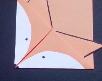 Cute Fox origami Bookmark