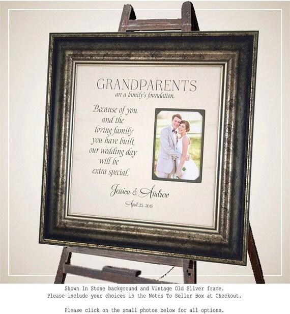 Personalized Grandparents Picture Frame, Nana, Papa, Grandma, grandpa grandmother grandfather, Thank You, grandparents wedding gift, 16 X 16