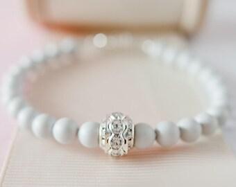 Grey Pearl Bracelet, Grey Bridesmaid Bracelet, Grey Wedding Accessories, Grey Wedding, Grey Pearl Jewellery, Pearl Wedding Jewellery