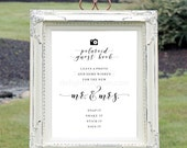 16X20 Printable Polaroid Sign Our Guest Book Sign, Wedding Sign, Polaroid Guestbook, Wedding Printable, JPEG File, You Print, You Frame