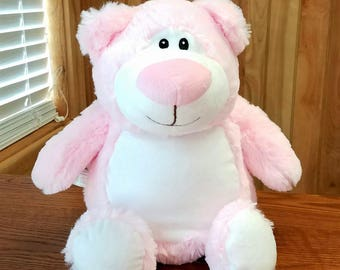 Personalized Cubbie Pink Bear Baby Cubbies Monogrammed Stuffed Animal