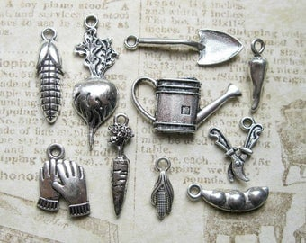 Garden Charm Collection in Silver Tone - C2424