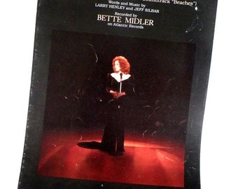Bette Midler The Wind Beneath My Wings Sheet Music  1982- 6 pages- Etsy Christmas Sale