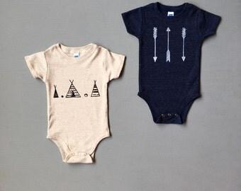 Wild West Baby Set, Baby Bodysuit, Cute Baby Gift, Newborn Gift, 3-6, 6-12, 12-18, 18-24 months