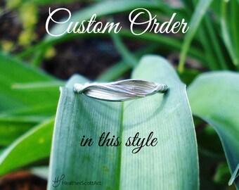 custom 14k white gold mitsuro wedding ring