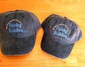 Father Son Baseball Caps Fathers Day Gift Fishing Buddies Toddler Kids Size Baseball Hat Grandpa Grandfather Grandson Uncle Nephew Gift