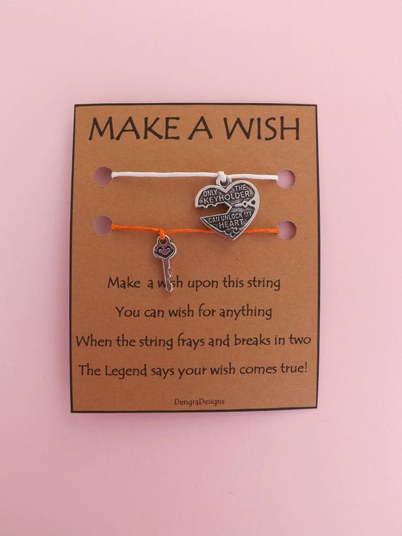 Heart and Key Double Wish String