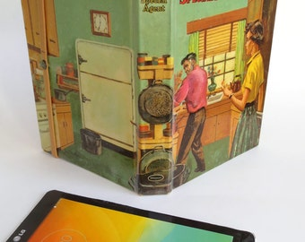 "Retro Donna Parker Tablet Case Made from 1957 Book ""Secret Agent"", Fits Kindle 7 inch, Fire, HD7, Galaxy Tab, Nexus 7, Nook Touch"