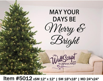 Christmas wall art, Merry and Bright