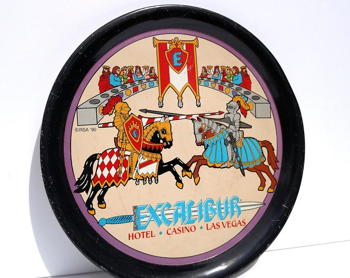 Vintage Excalibur Las Vegas Hotel and Casino Tin Tray