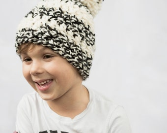 Kids Pom Pom hat kids winter hat Kids Winter Beanie Pom Pom hat, kids Knit hat, kids knit beanie, kids skull cap (The Kids Pom Pom hat)