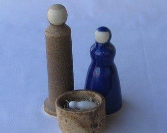 Nativity Set, Wheel Thrown Pottery