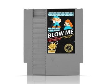 Nintendo Blow Me Video Game Cartridge / Random Game / Nintenblow / Blow Me Game / NES Cart / Humorous Game / Collectors Item