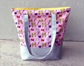 Sailor Moon Tote Bag - Pink Market Tote / Lined Bag / Canvas and Cotton Tote Bag / Pink Anime Bag / Anime Tote Bag / Small Pink Tote