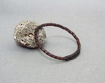 Mens Leather Bracelet, Boyfriend Gift, Braided Leather Bracelet, Men's Gift, Gift for Him, Men's Leather Jewelry