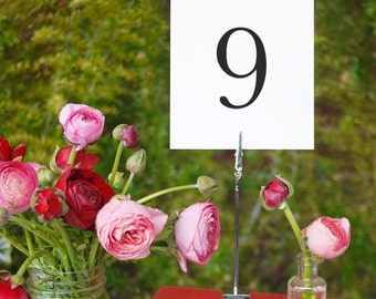 Wedding Table Numbers Printable Template Instant Download 2B, 9