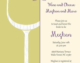 Sketch Wine and Cheese Invitation