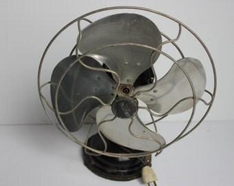 Antique Fan, Vintage Fan, Signal Antique Fan, Black Fan, Oscillating Fan