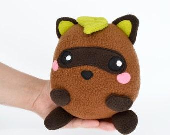 Raccoon plushie kawaii soft toy plush handmade cute panda stuffed animal