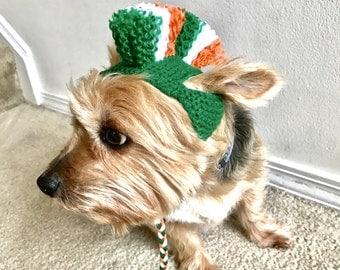 Saint Patrick's Day Dog Costume - Hand Knit Dog Hat - Mohawk Dog Hat - Custom Sizing