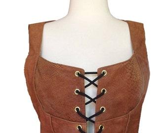 New-buck leather waistcoat
