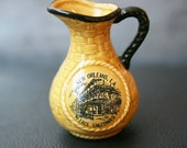 Vintage New Orleans Creamer / Vintage New Orleans Pitcher / Miniature Pitcher / New Orleans Lace Balconies By Spin Originals Japan / Yellow