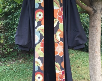 Clergy Stole / Coral Floral Pattern