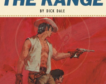 Gay on the Range - 10 x 17 Giclée Canvas Print of a Vintage Gay Pulp Paperback Cover