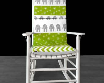 Elephants Nursery Rocking Chair Pads Cover