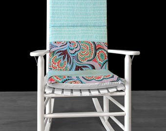 Floral Herringbone Rocking Chair Cushions And Covers