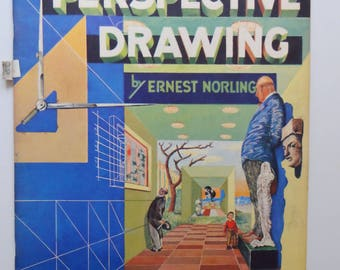 Vintage Perspective Drawing Walter T. Foster Art Book 1960s
