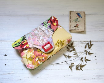 Pale pink clutch, bridal clutch purse, lavender clutch, cute pink bag,  funky handbag, beige evening purse, pink floral clutch, retro clutch